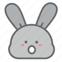 animal, bunny, easter, egg, emoji, face, rabbit icon
