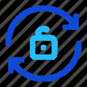 arrow, rotate, unlock