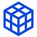 cube, edge, grid icon