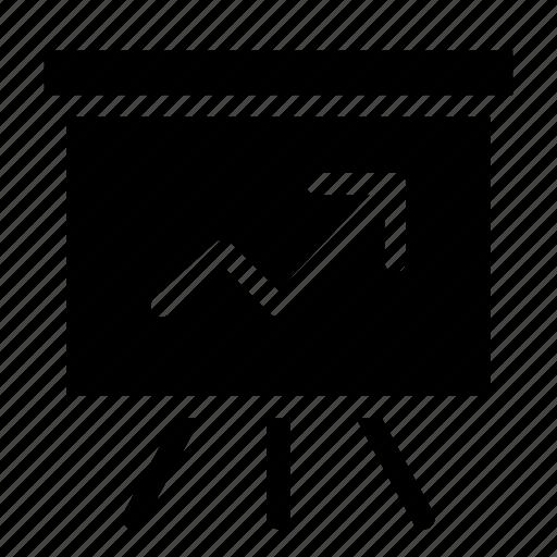 analytic, presentation, projector, representation, screen icon