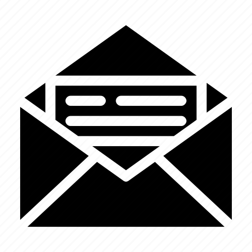 envelope, letter, mail, post, snail icon