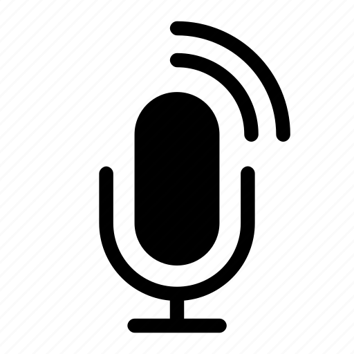 announcement, microphone, sound, speak, wave icon