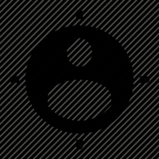 employee, employer, hiring, hunt, target icon