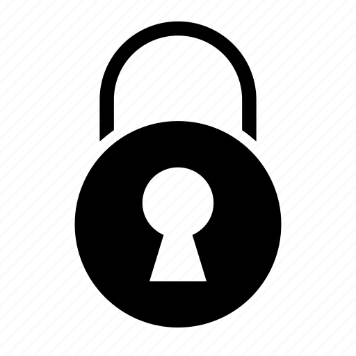 antivirus, chain, lock, protection, security icon