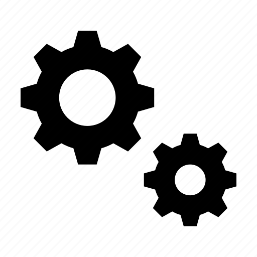 cogs, gears, machinery, settings, tune up icon