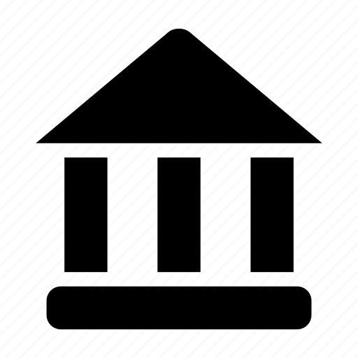 bank, building, court, institution, room icon