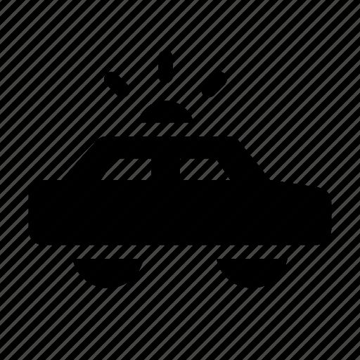 car, hunt, patrol, police, siren icon