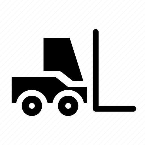 delivery, forklift, machine, package, storage icon