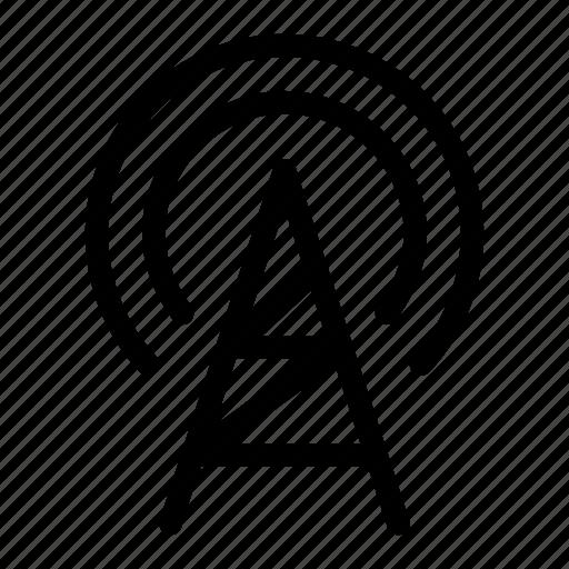 broadcast, gsm, signal, tower, wavelength icon