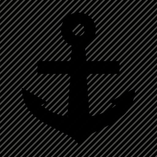 anchor, link, main, ocean, ship icon