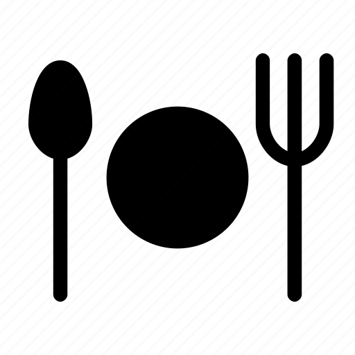 cutlery, dish, fork, silverware, spoon icon