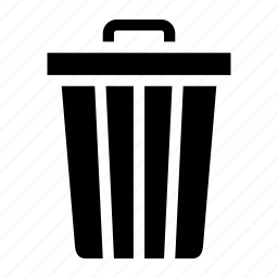 bin, can, delete, remove, trash icon