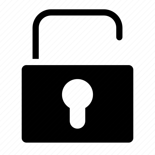 code, padlock, security, unlocked, unprotected icon