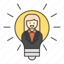 business, finance, idea, money, work icon
