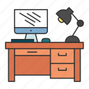 business, desk, finance, office, work icon