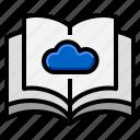 book, digital, ebook, education, online icon