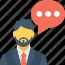 chat bubble, communication, speaking, talking, user