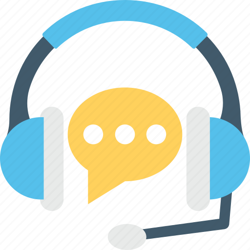 chat bubble, customer service, earphones, headphones, telemarketing icon