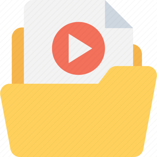 archive, folder, movie, video collection, video folder icon