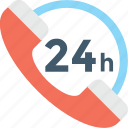 customer service, full service, helpline, customer support, twenty four hours icon