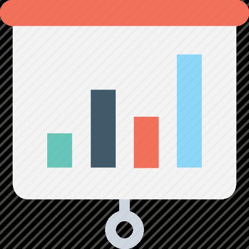 analytics, bar chart, presentation, statistics, training icon