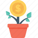 money plant, profit, growth, finance, investment icon
