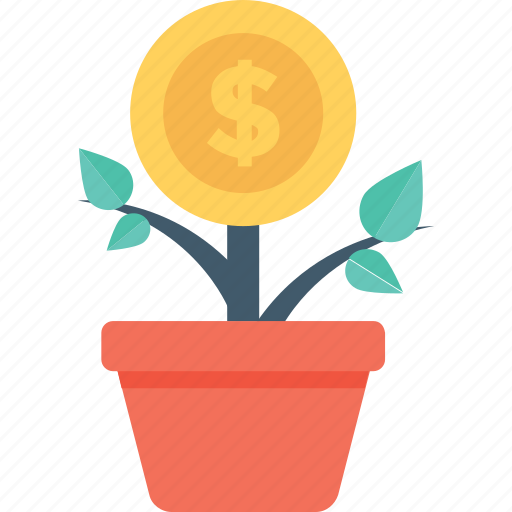 finance, growth, investment, money plant, profit icon
