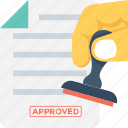 stamp, document, attested, authorized, contract icon