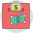 income, making money, payment, profit, salary icon