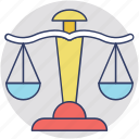 court, justice, law, legal, scales of justice icon