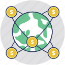 digital banking, global banking, global transaction, internet banking, online banking icon
