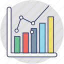 analytics, bar chart, bar diagram, business chart, geographic information icon