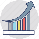 company performance, improvement graph, performance graph, presentation, success chart icon