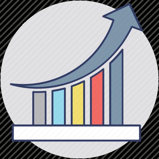 company performance, improvement graph, performance graph, presentation, success chart icon