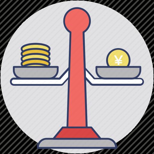 budget balance, budget scale, business plan, financial planning, money balance icon