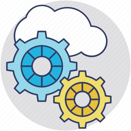 cloud application service, cloud service configure, cloud software service, cloud solution, cloud sync settings icon