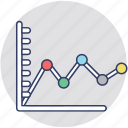 business chart, growing graph, statistics, trend graph, trend analysis icon