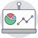 business analysis, business graph, flipchart, presentation, statistics icon