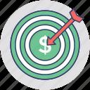 business development, business goal, business target, financial goal, sales target icon