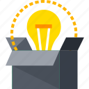 brain, bulb, creative, idea, light, lightbulb, think icon