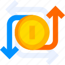 exchange, business, money, dollar, currency, transfer, coin icon