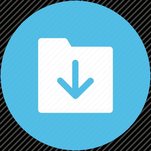 arrow, down arrow, download, download file, download folder, save file icon
