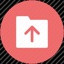 indicator, up sign, upload, upload folder, uploading, upward icon