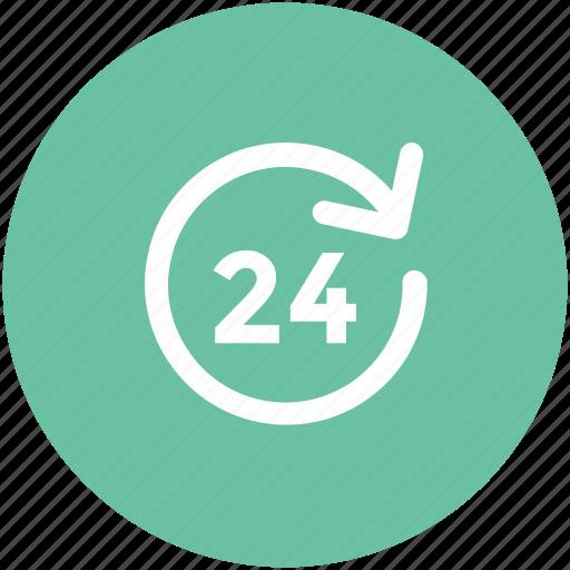 call center, customer service, full service, helpline, timetable, twenty four hours icon