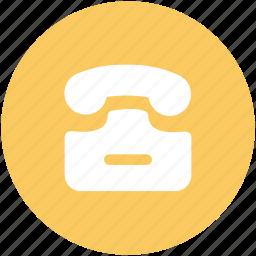 communicate, dial, landline, telecommunication, telephone, telephone set icon