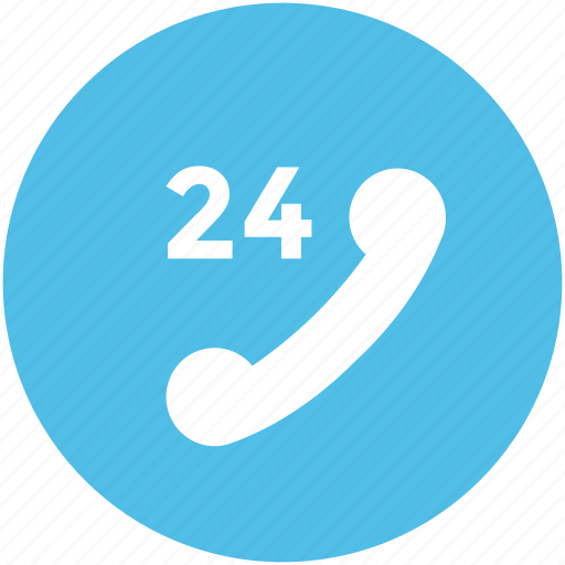 call center, customer service, full service, helpline, timetable, twenty four hours icon