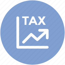 commerce, currency, finance, pointing up, saving, tax ratio icon