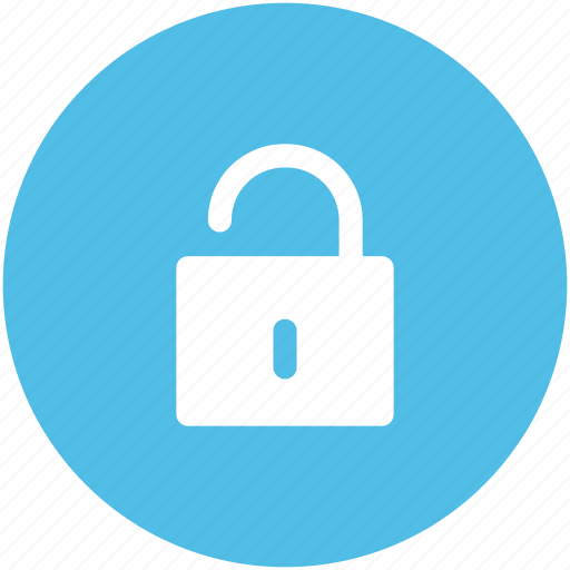 lock open, login, padlock, password, privacy, security, unlock icon