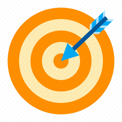 achieve, aim, business, goal, target icon