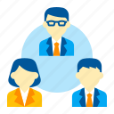 business, co-worker, colleague, peer, team, teammates, workshop icon